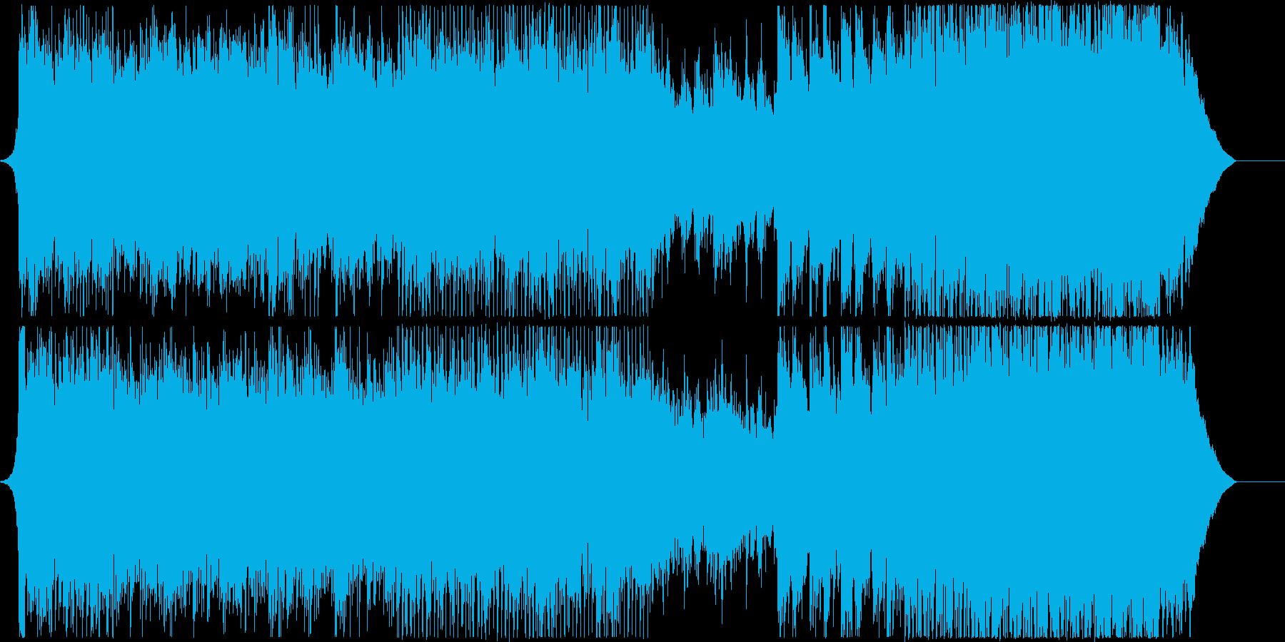 アコギとストリングスのポップな曲の再生済みの波形