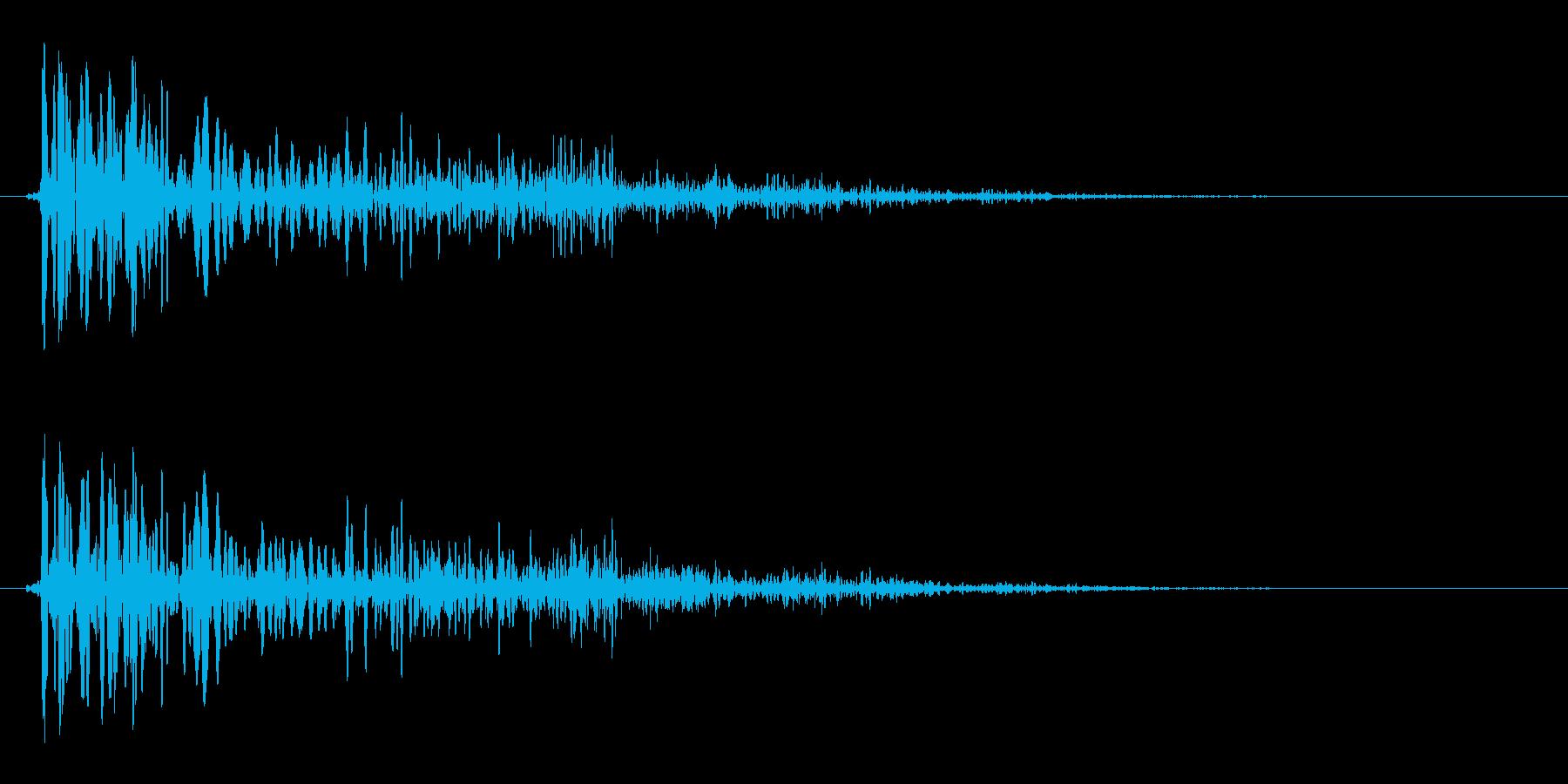 プヨン(生き物の足音)の再生済みの波形