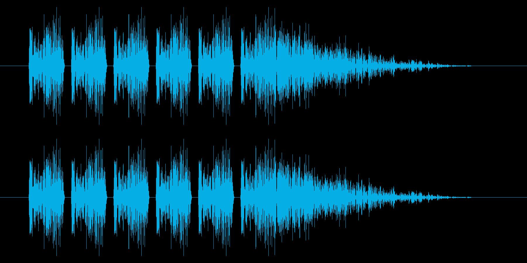 SNES シューティング01-07(ダメの再生済みの波形
