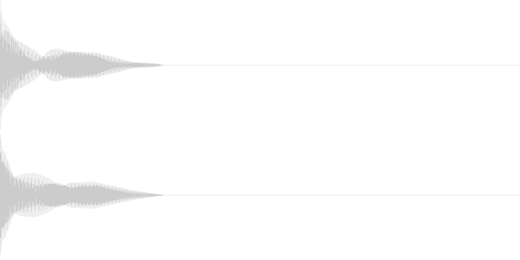 Cursor セレクト・カーソルの音5の未再生の波形