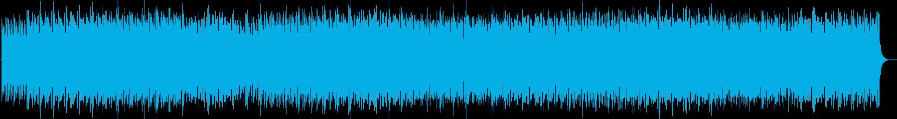 宇宙的なシンセサイザーなどのサウンドの再生済みの波形