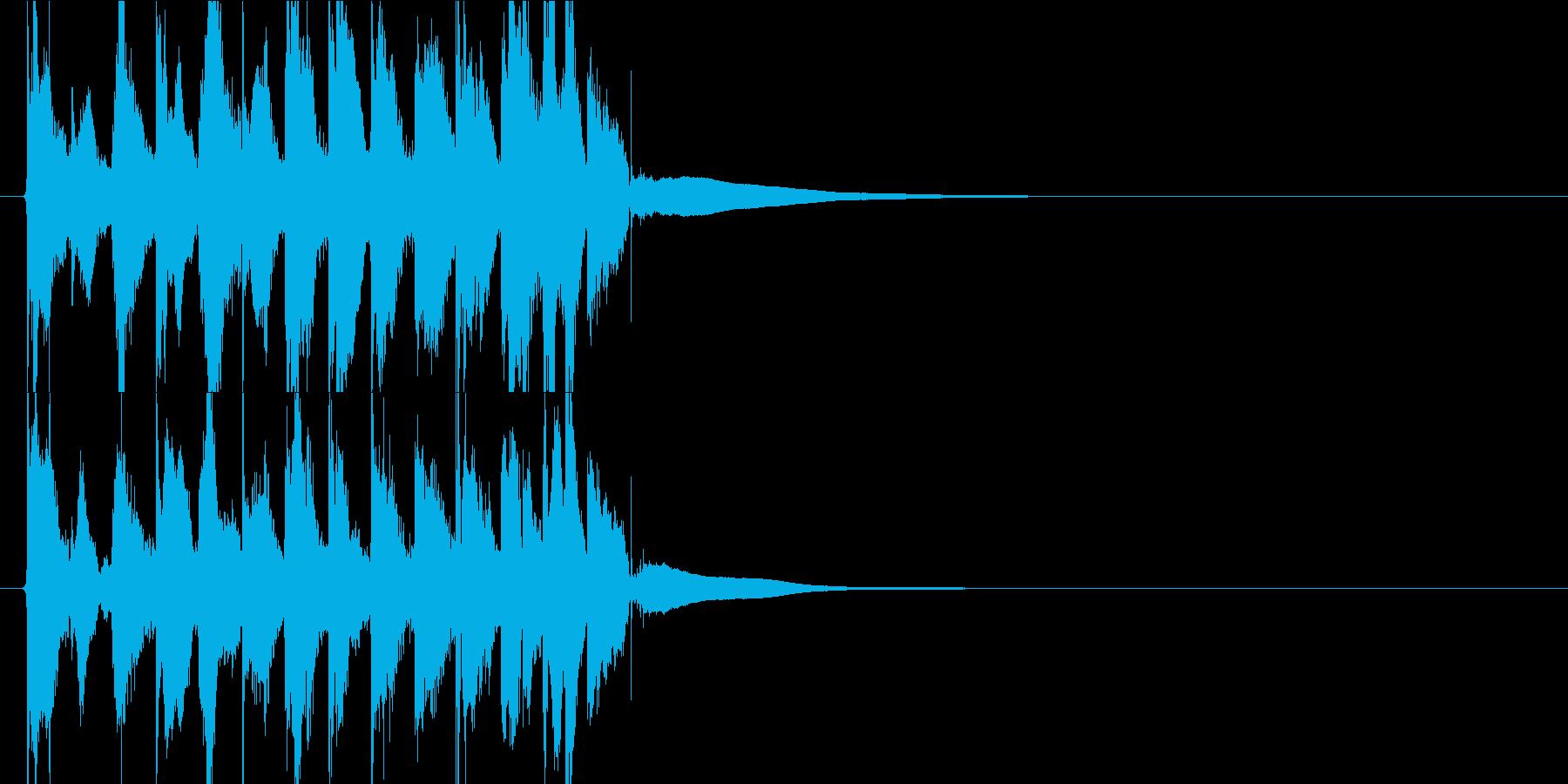 かわいいジングル アニメ系ポップキュートの再生済みの波形