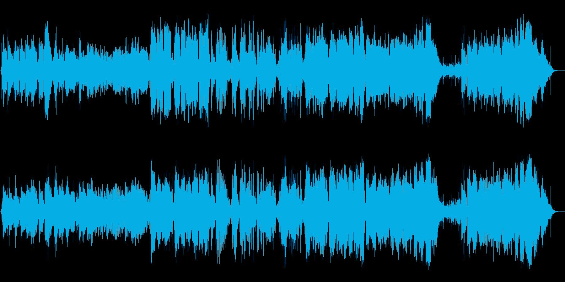 美しく爽やか弦楽器シンセピアノサウンドの再生済みの波形