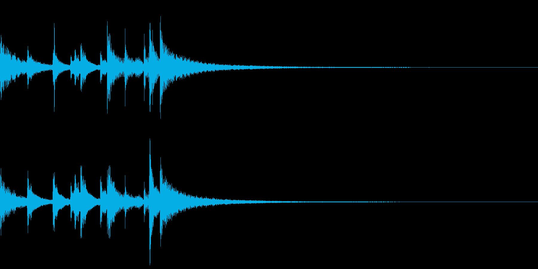 三味線による終止形メロディ~失敗~の再生済みの波形