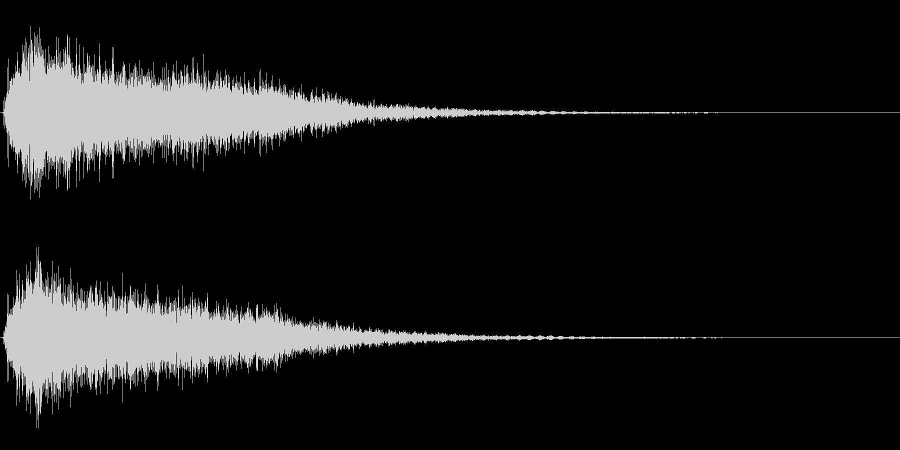 サスペンスに最適!ピアノの弦を弄ぶ音23の未再生の波形