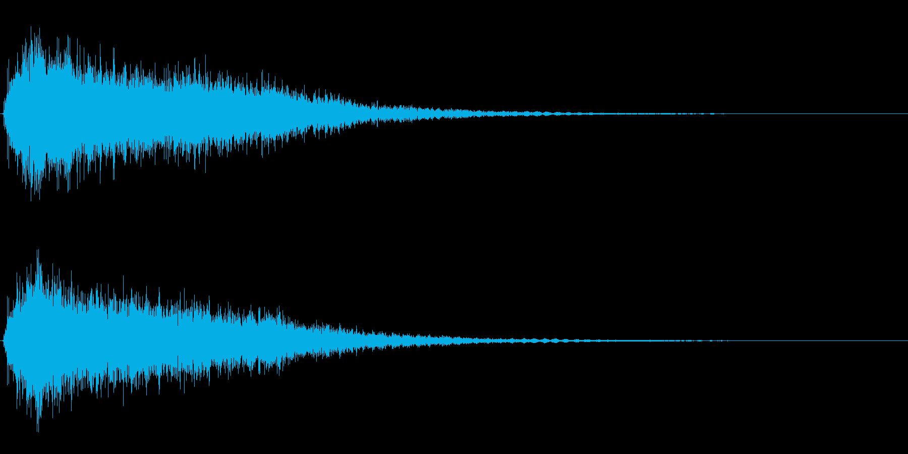サスペンスに最適!ピアノの弦を弄ぶ音23の再生済みの波形