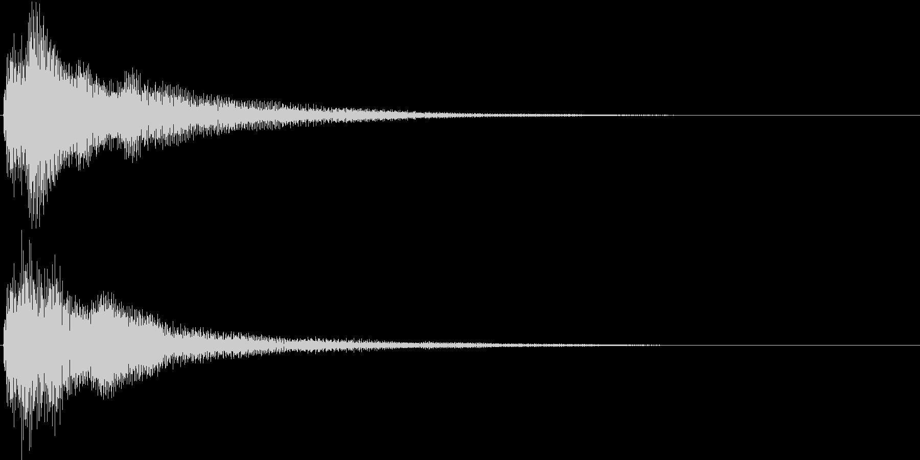電子音_選択決定音の未再生の波形