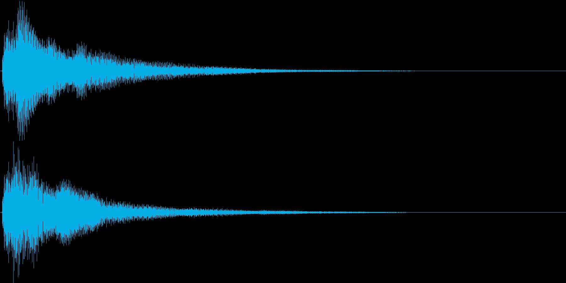 電子音_選択決定音の再生済みの波形