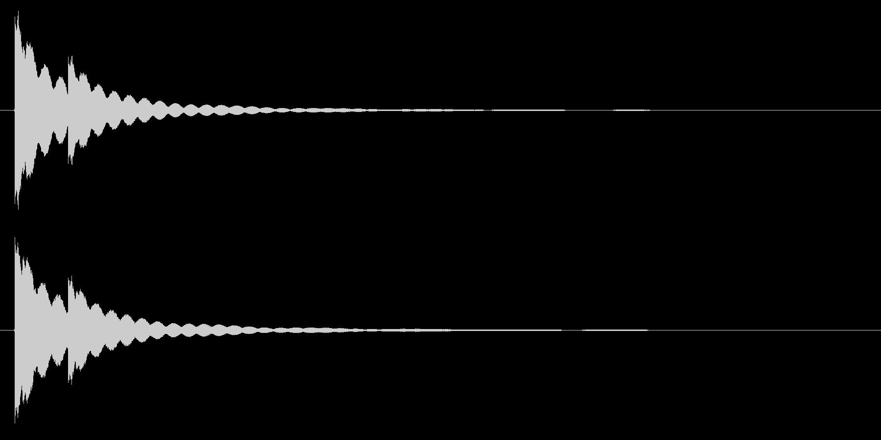 チーンチーン・・・ お鈴・仏壇の鐘の未再生の波形