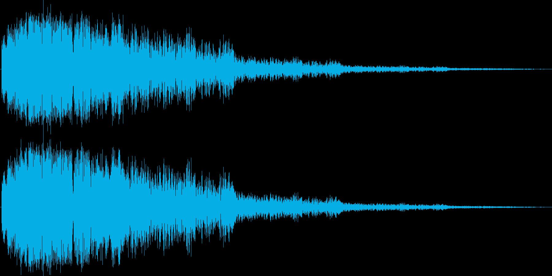 ピキーン(高い音と不気味な音が混ざったの再生済みの波形