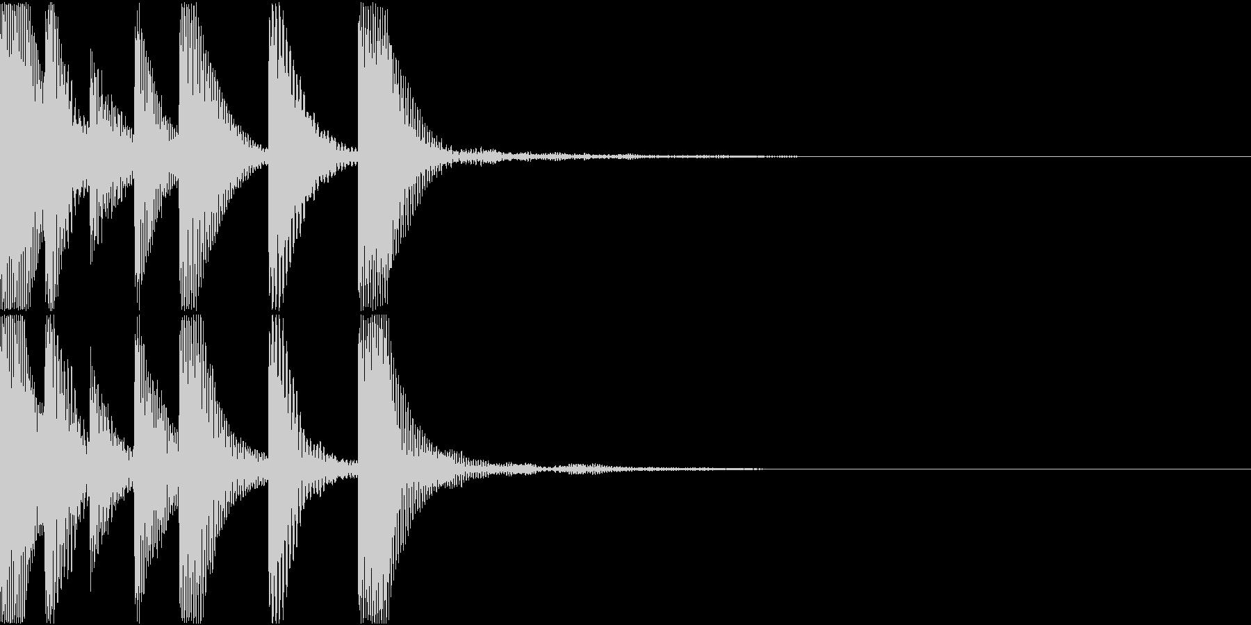 コミカルな木琴ジングルの未再生の波形