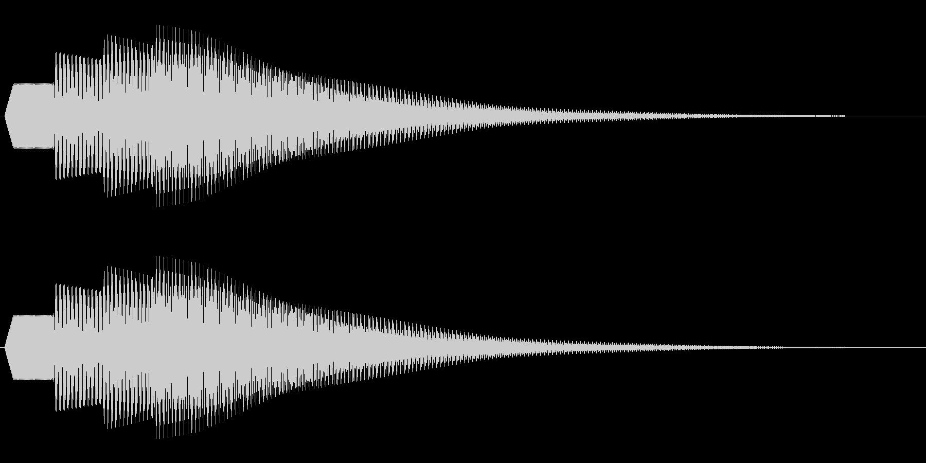 シンプルな通知音_04の未再生の波形