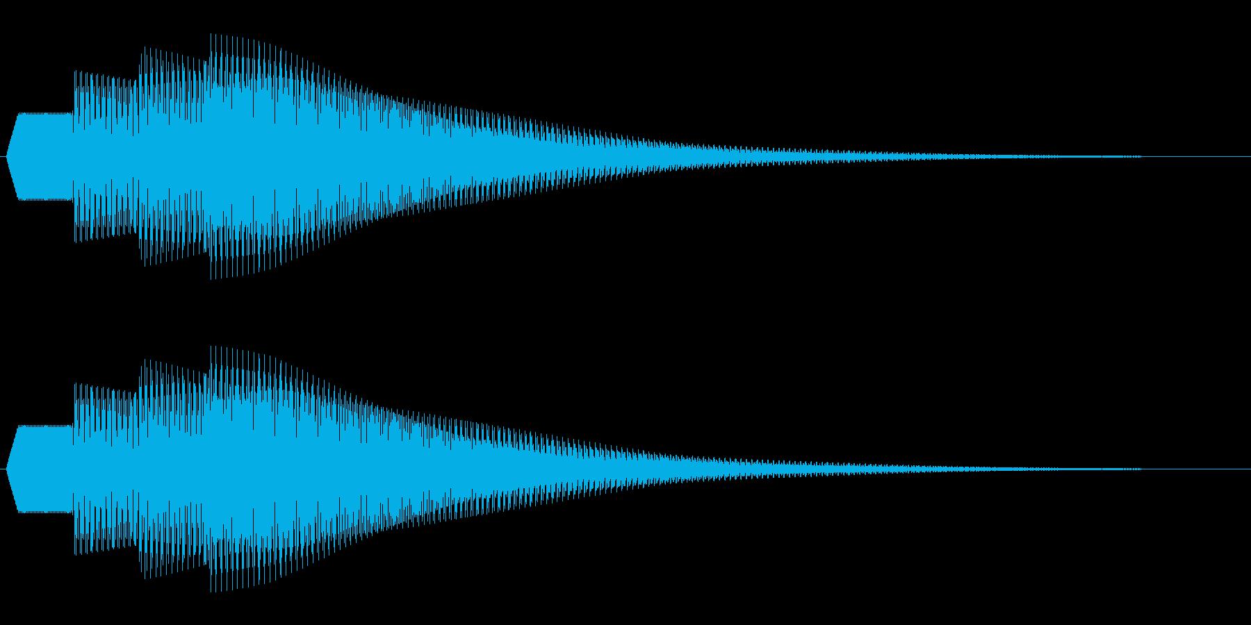 シンプルな通知音_04の再生済みの波形