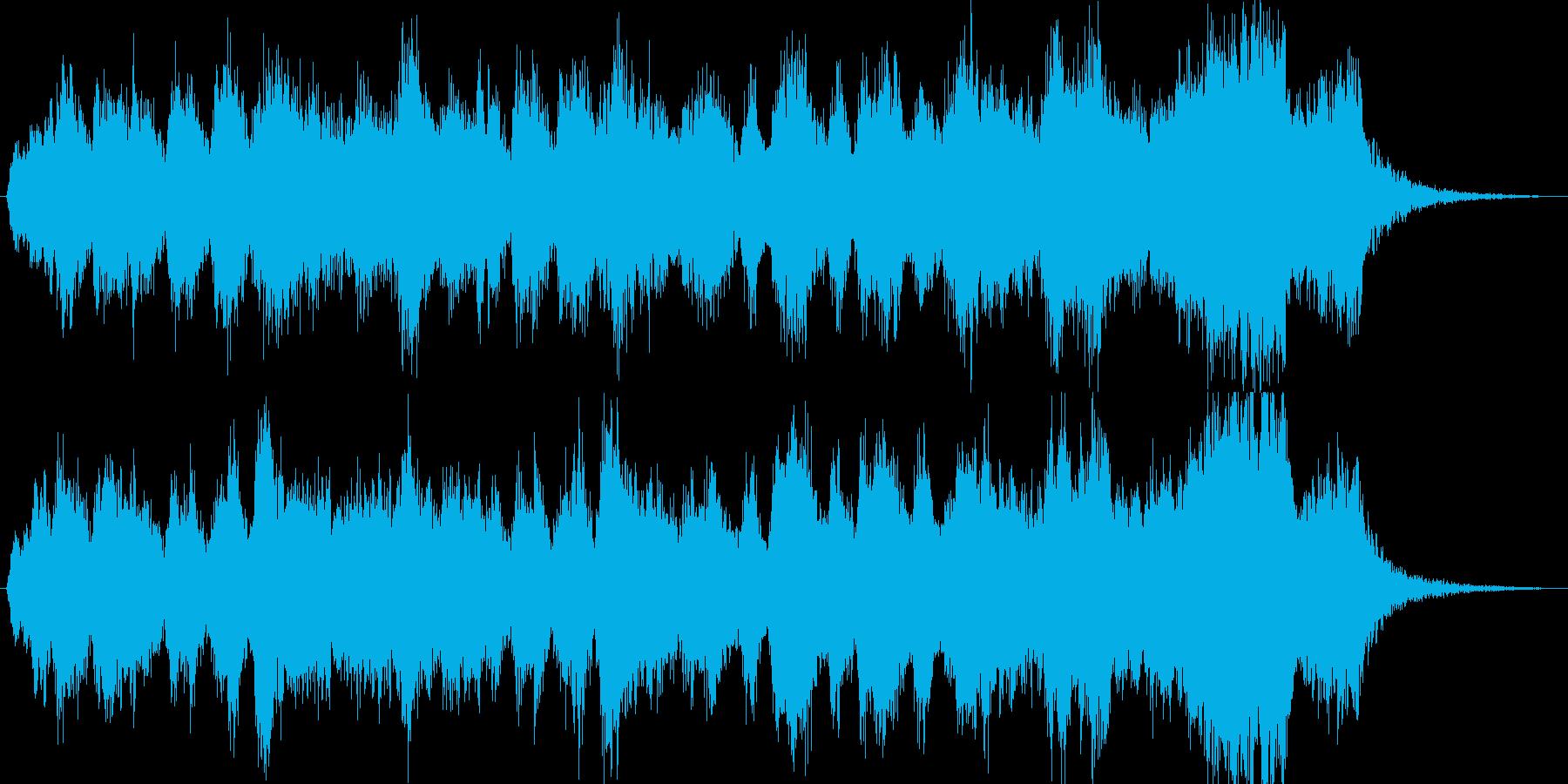 15秒ブラスファンファーレの再生済みの波形