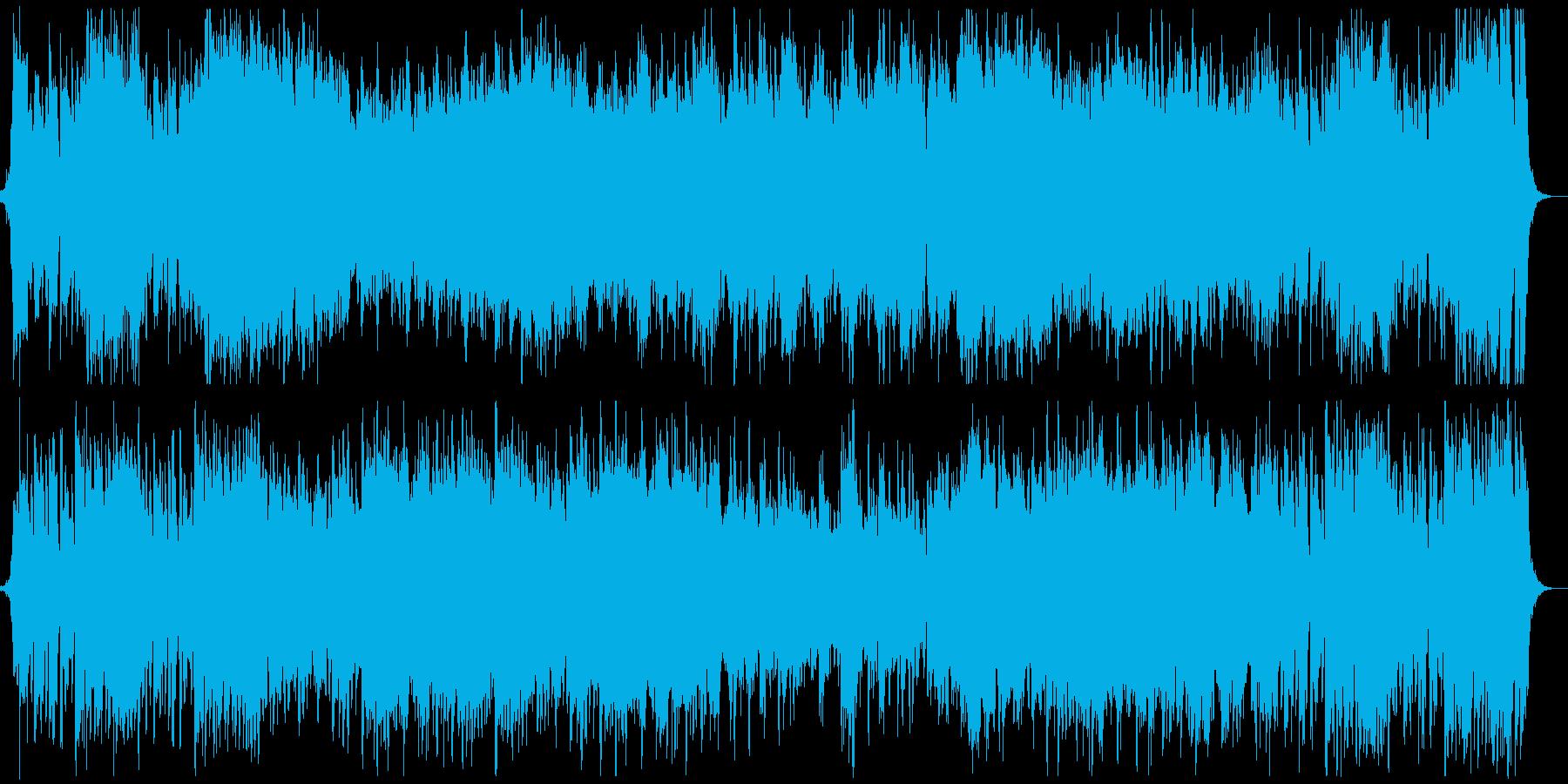 オープニング映像に合う冒険のオーケストラの再生済みの波形