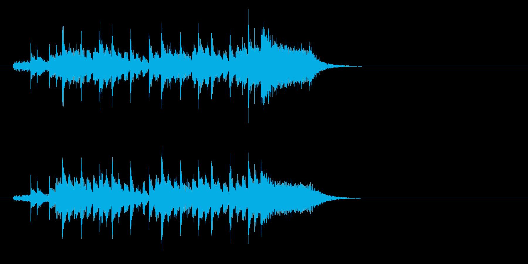 ジングル(キュートな感じ)の再生済みの波形
