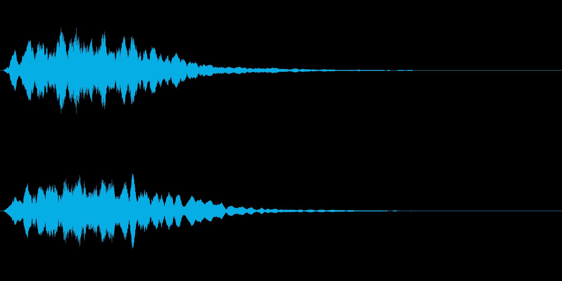 RPGにおける回復魔法の効果音。の再生済みの波形