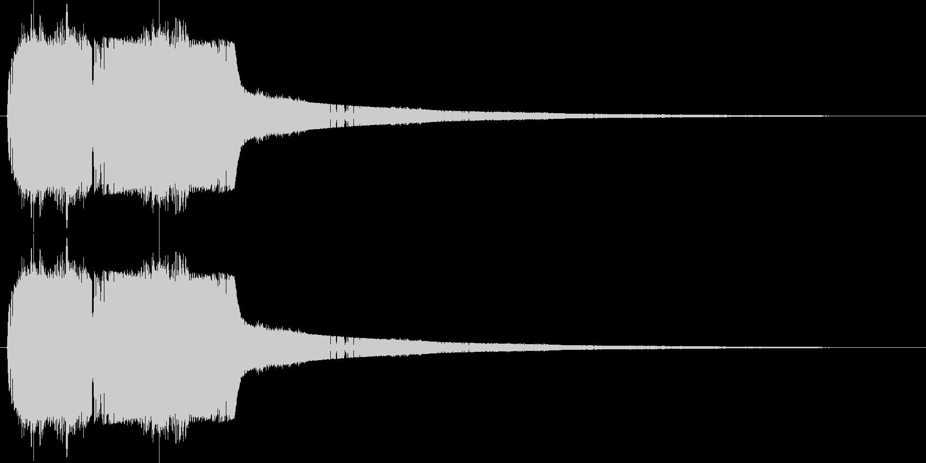 シャッと瞬間移動する01の未再生の波形