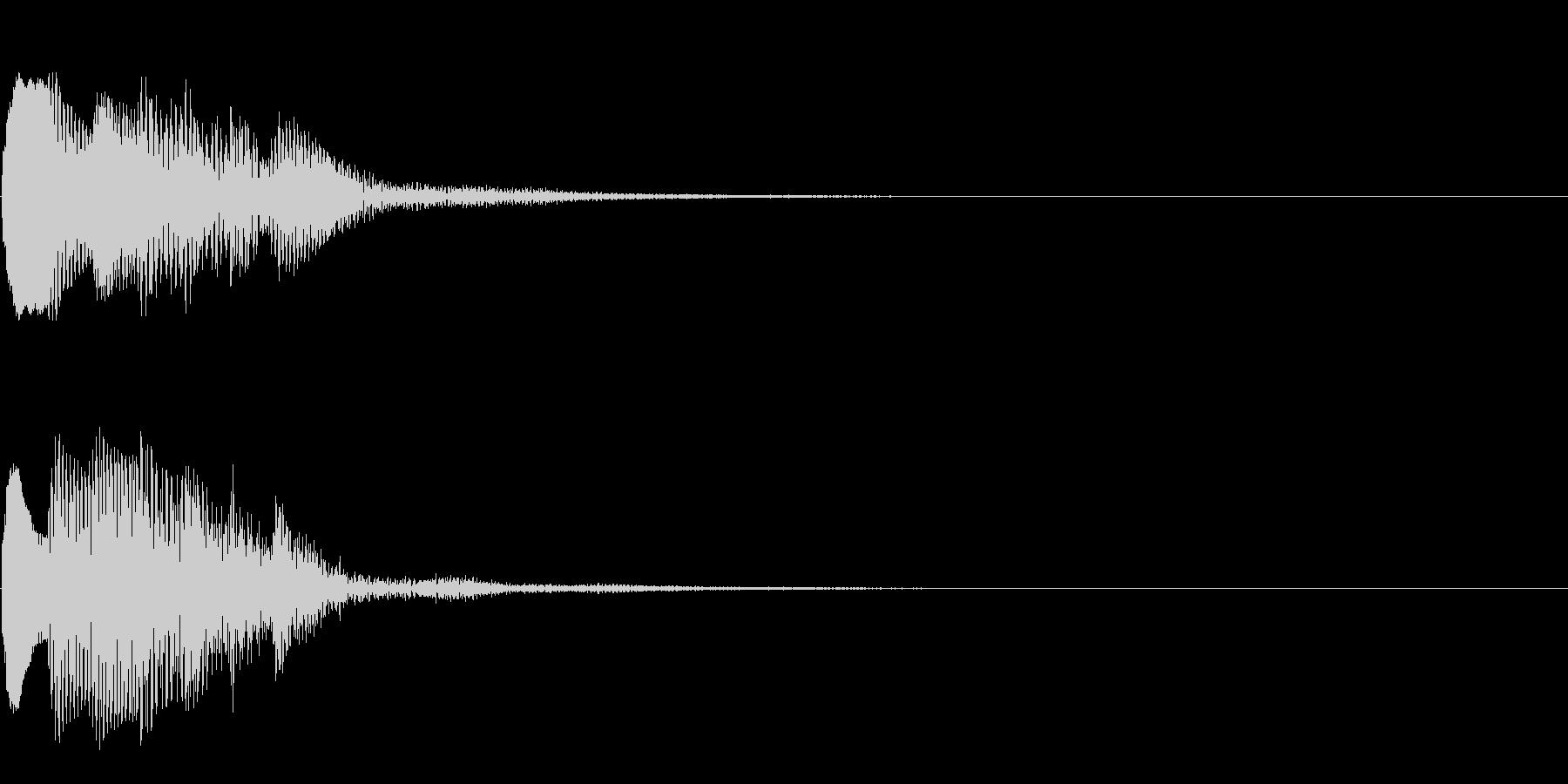 場面転換04(かわいい音)の未再生の波形