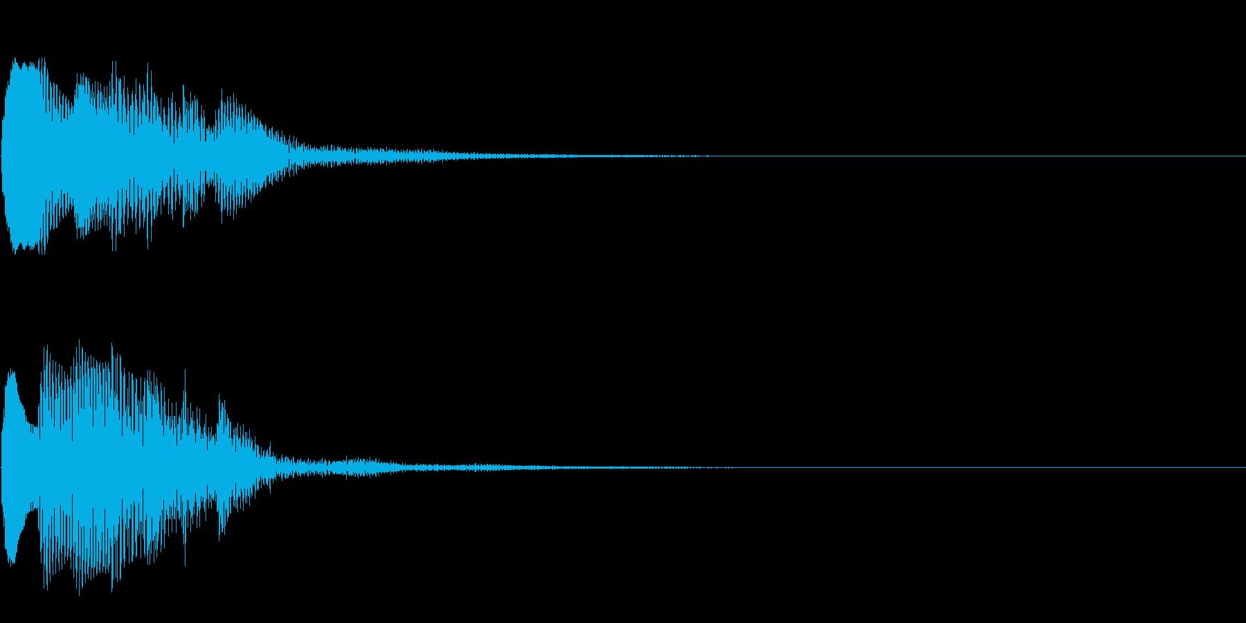 場面転換04(かわいい音)の再生済みの波形