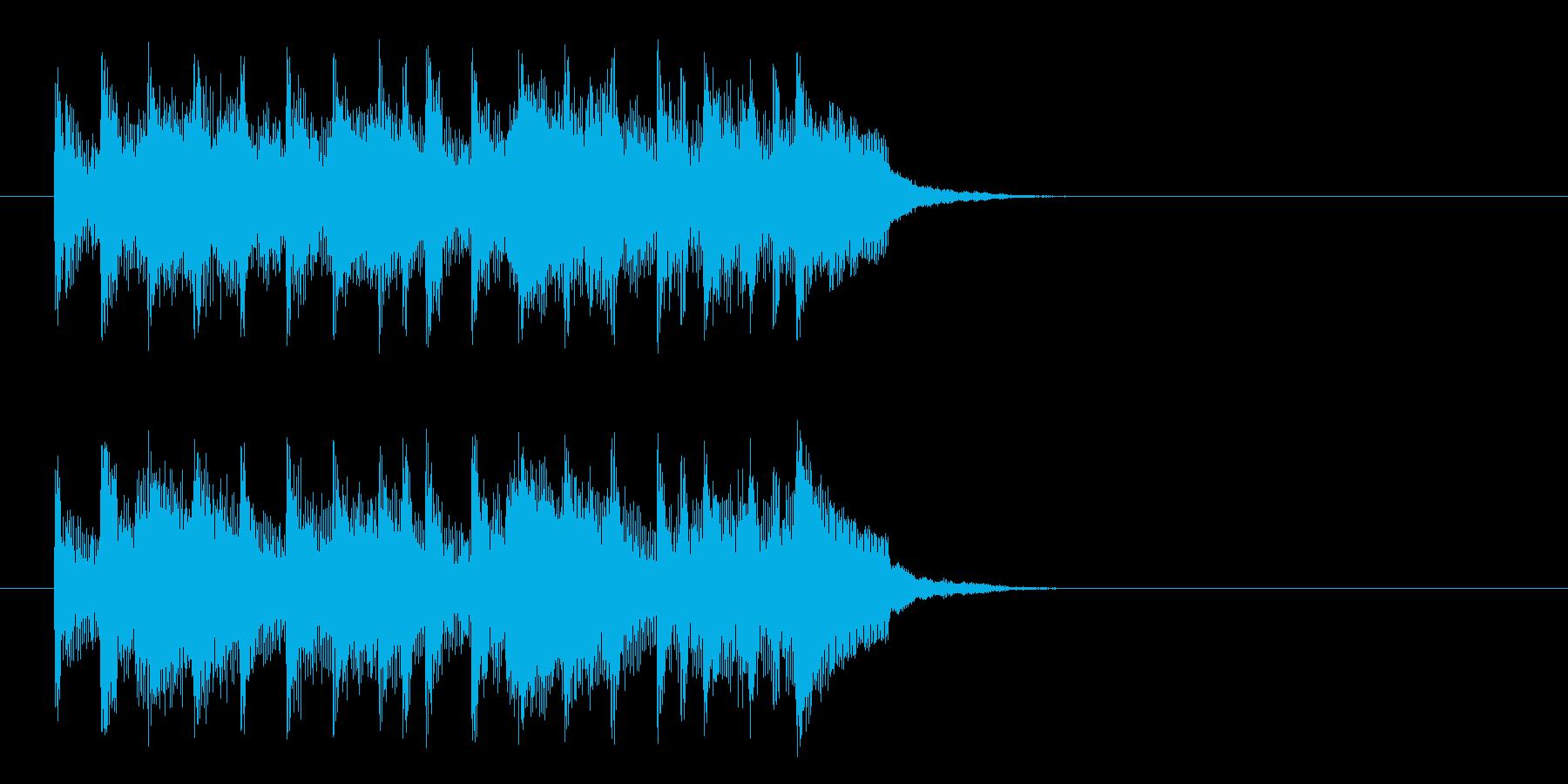 コーナー・タイトル風ラテンなジングルの再生済みの波形