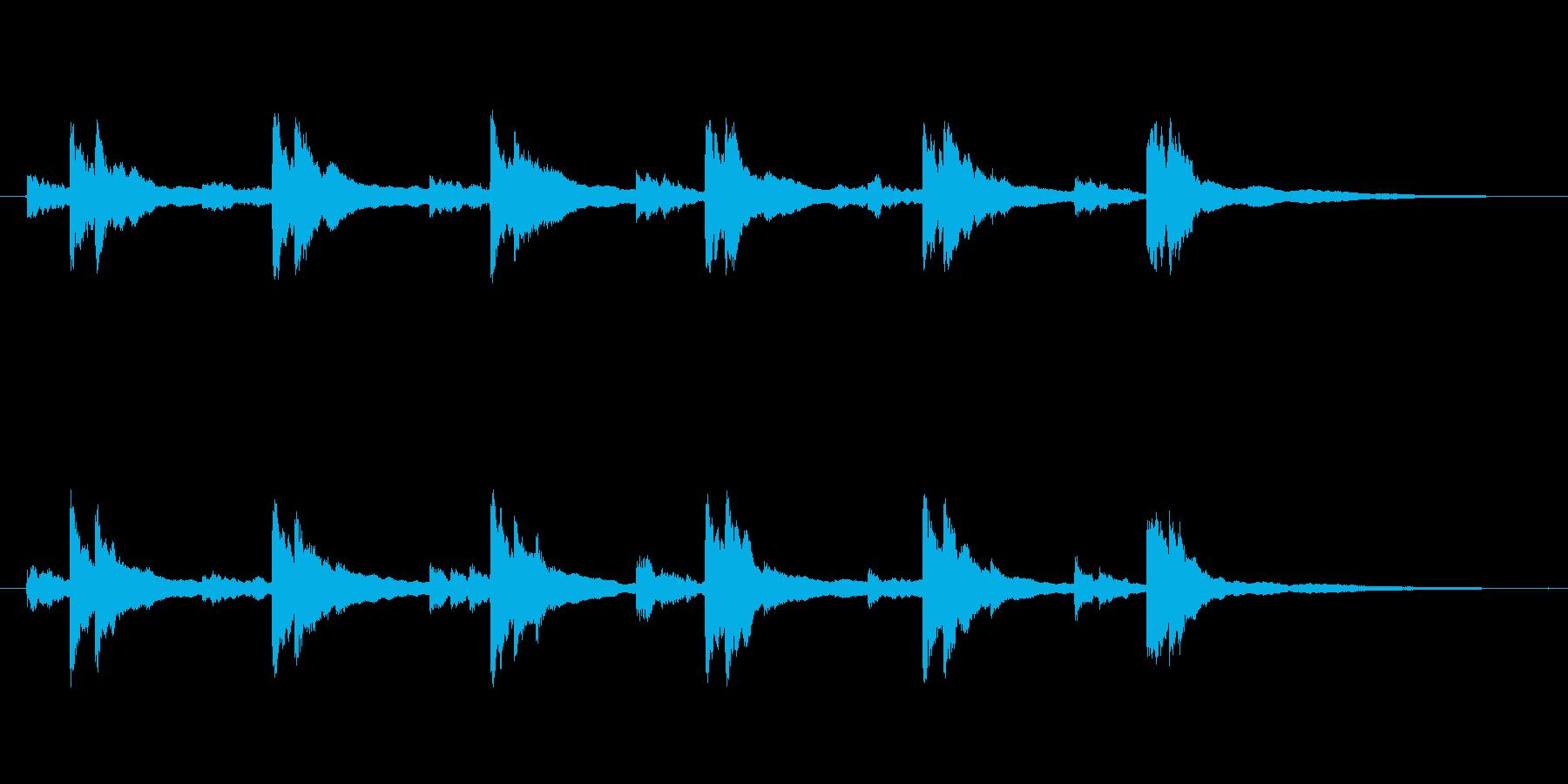 鐘の音の再生済みの波形
