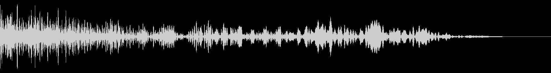 ショット音、射出音の未再生の波形