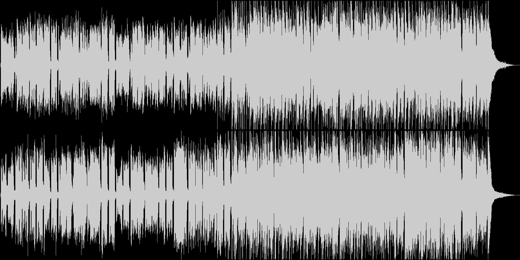 アコースティックギターの軽快なポップスの未再生の波形