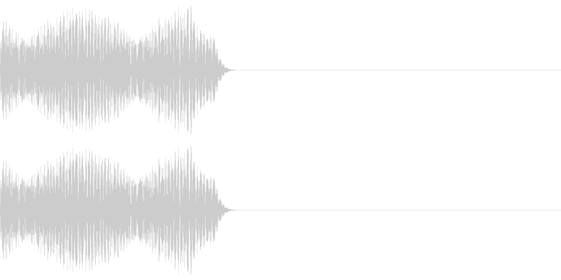 ゲーム等の禁止音「ブッ」 中くらいの音程の未再生の波形