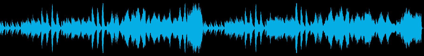 切ないような不思議な曲の再生済みの波形
