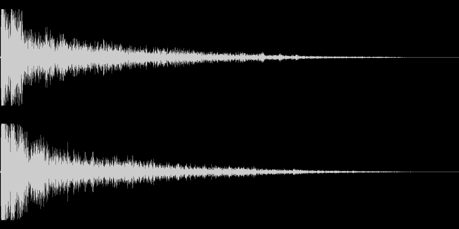 カコーンという余韻長めの木の和風SEですの未再生の波形