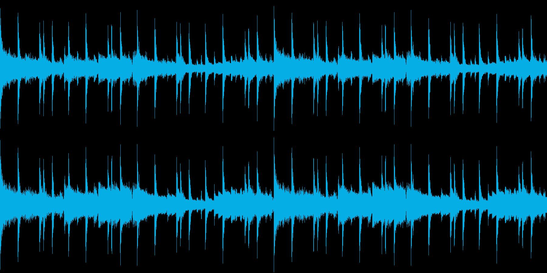 エレピとドラムのゆったりBGMの再生済みの波形