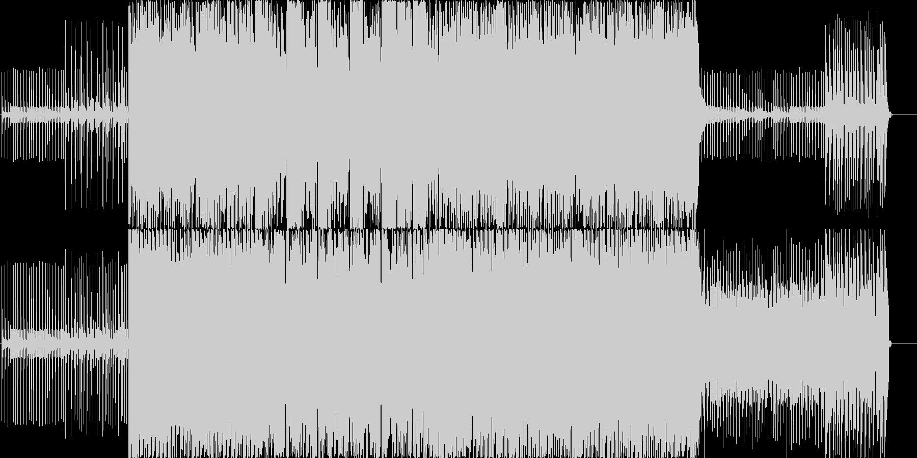 アップテンポなギターリフが印象的なBGMの未再生の波形