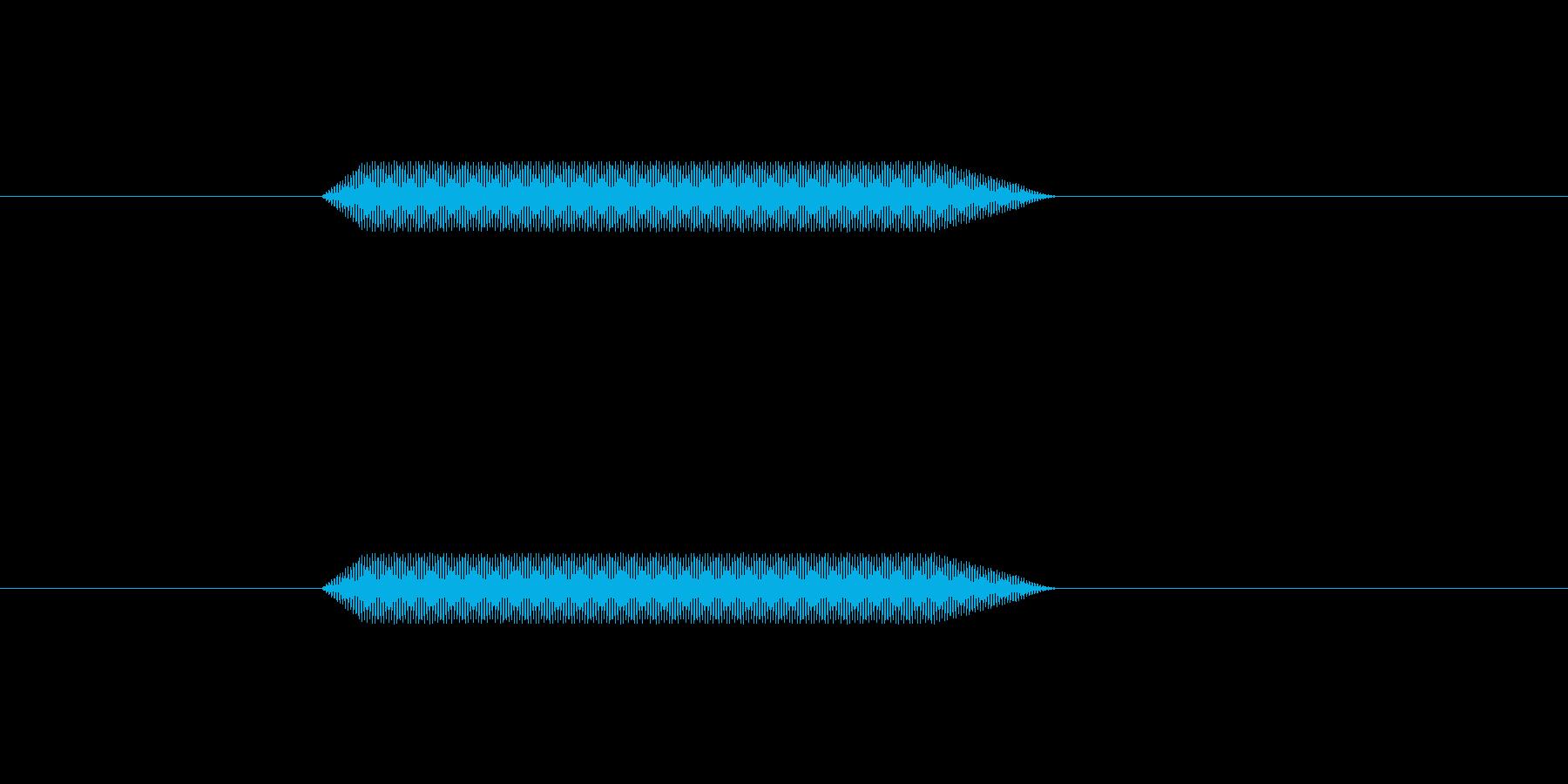 ピッ【カーソル音:シンプルで可愛い】の再生済みの波形