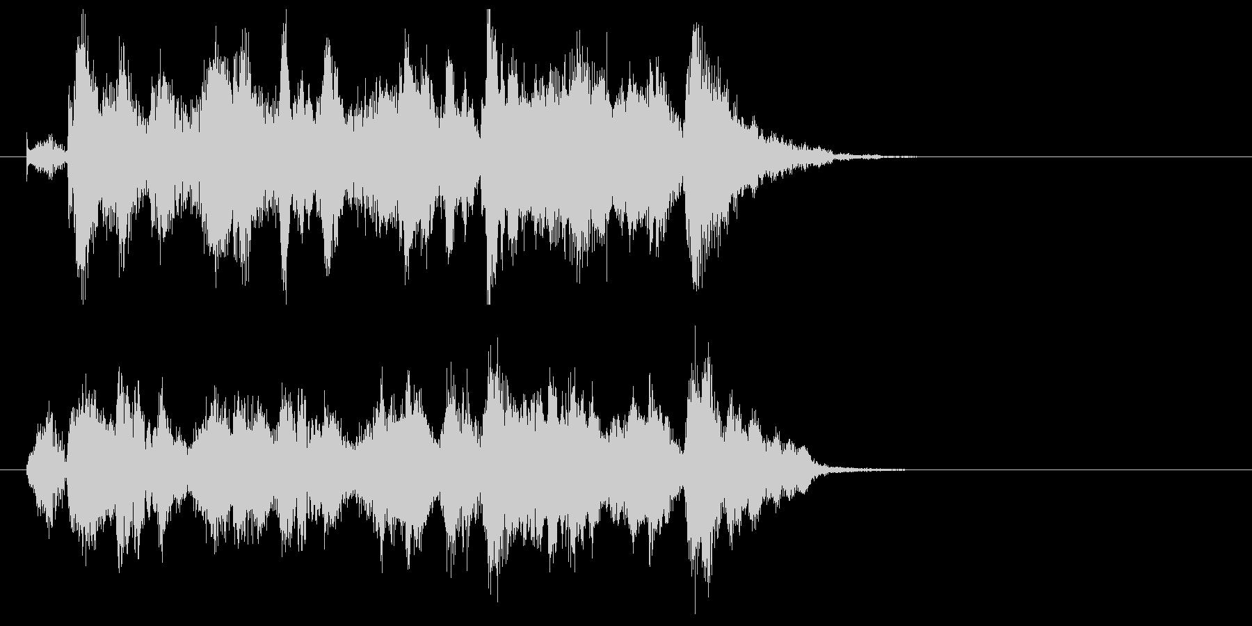 メルヘンでキャッチ―なポップジングルの未再生の波形