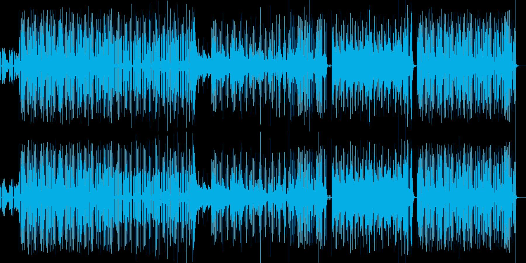バンド形式のドライなピアノ&クラビBGMの再生済みの波形