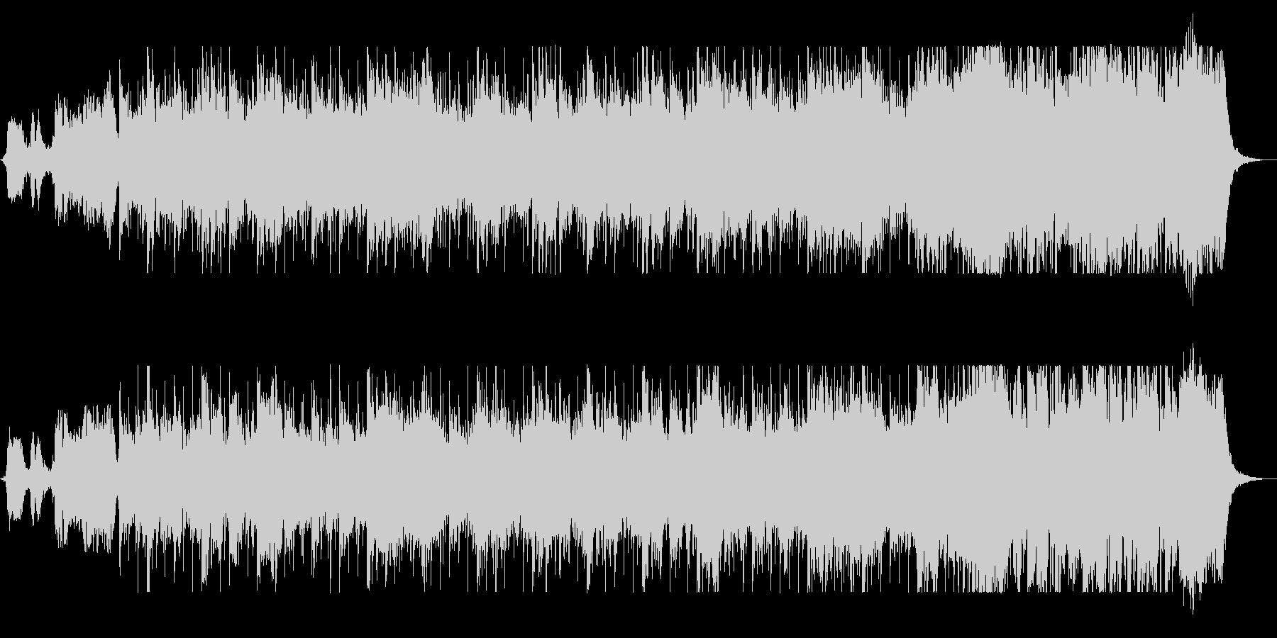 ドラムの音が耳に残るコーラス曲の未再生の波形