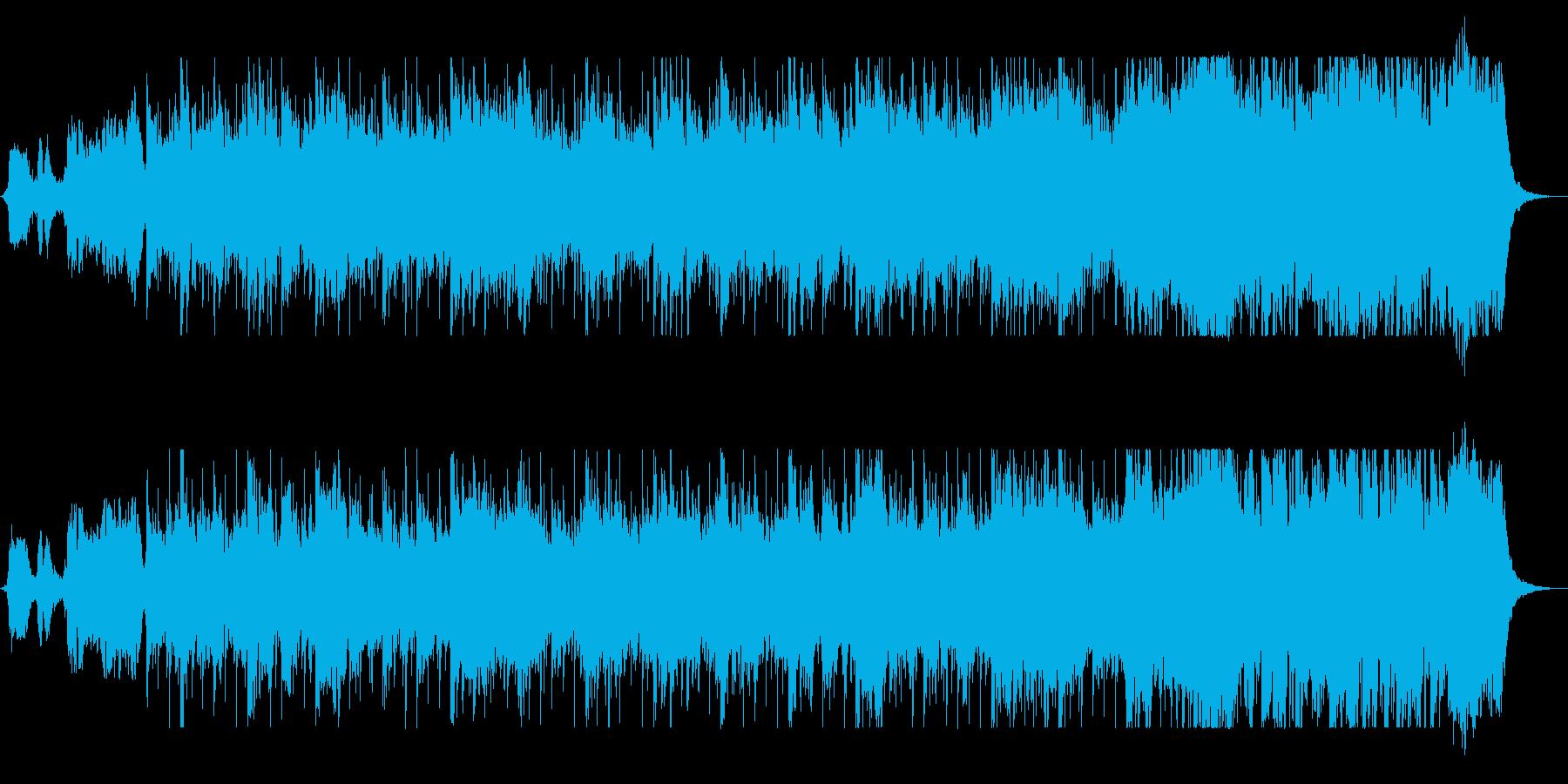 ドラムの音が耳に残るコーラス曲の再生済みの波形