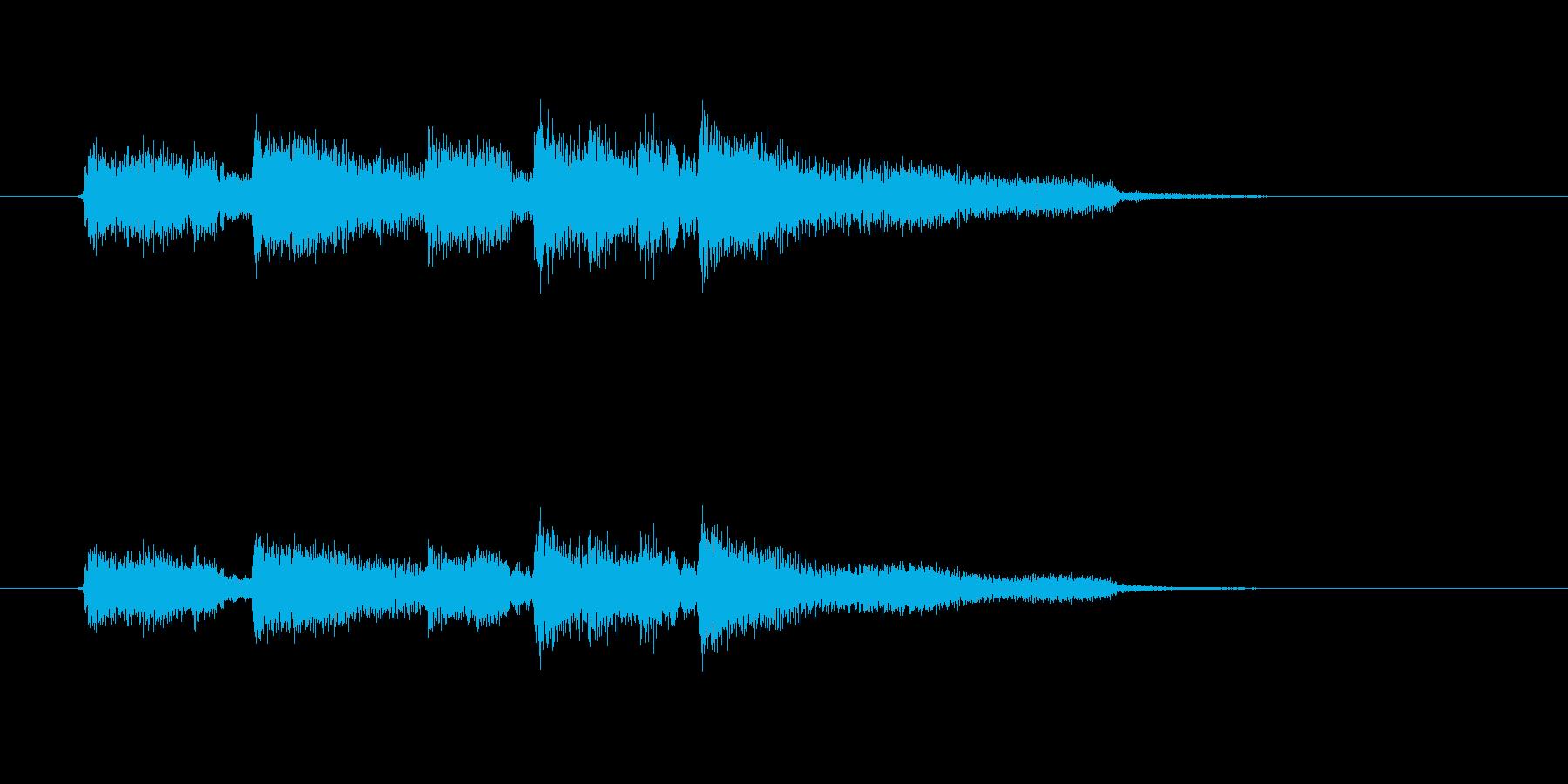 切ないギター音(ジングル、ドラマ)の再生済みの波形