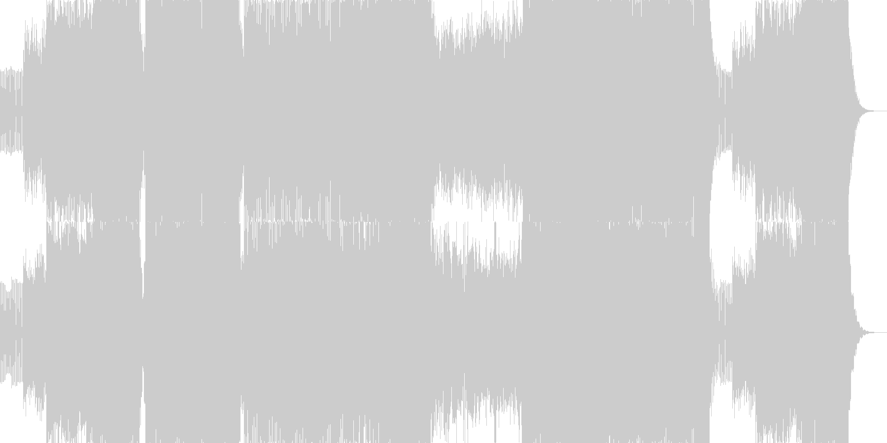 ハイテンポでノリノリなエレクトロニカの未再生の波形