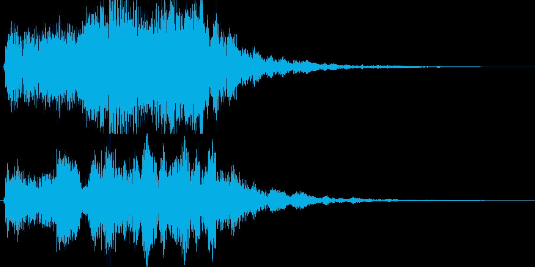 幻想的なジングル、サウンドロゴの再生済みの波形