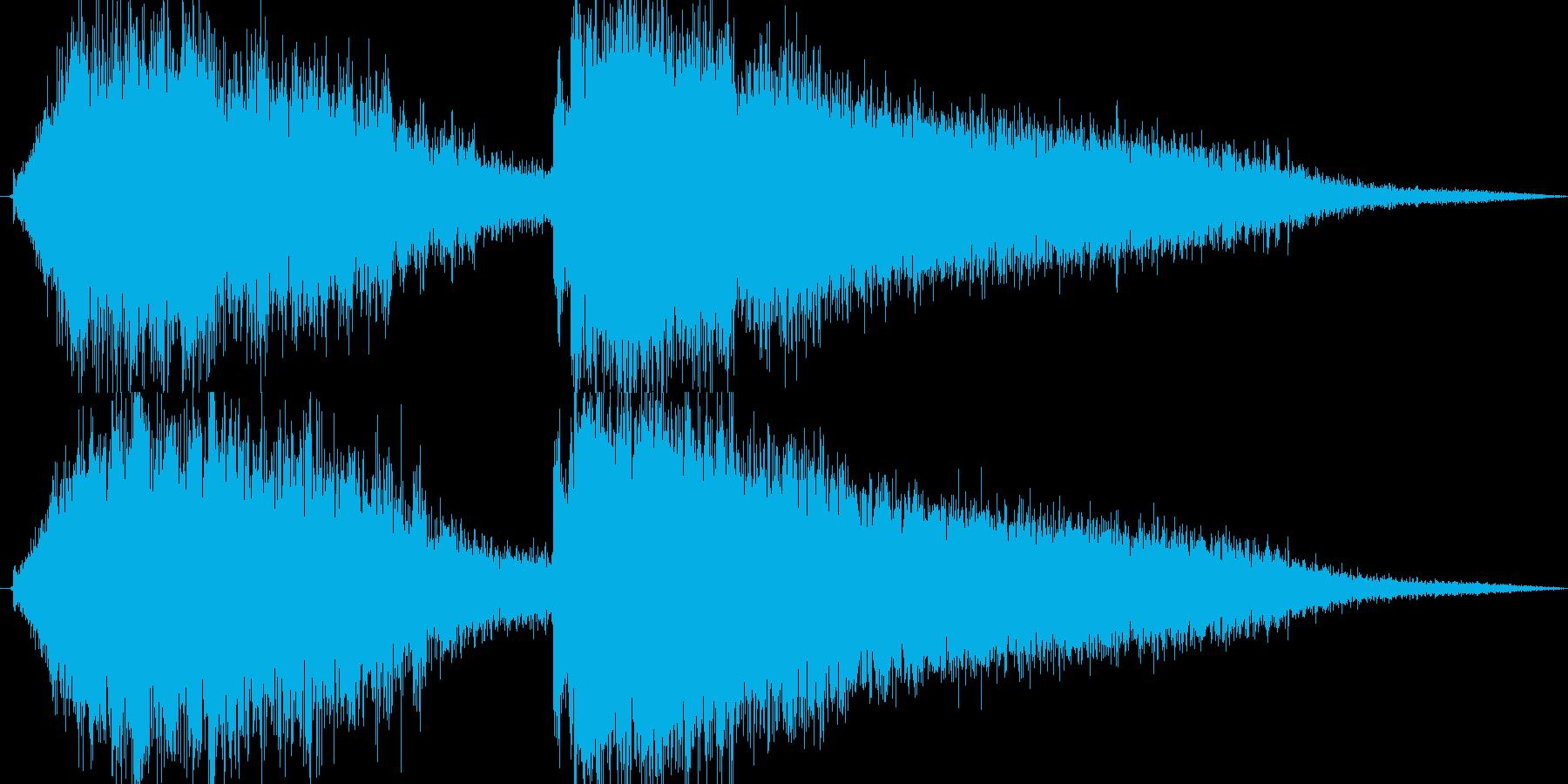 氷魔法(巨大な氷に閉じ込める)の再生済みの波形