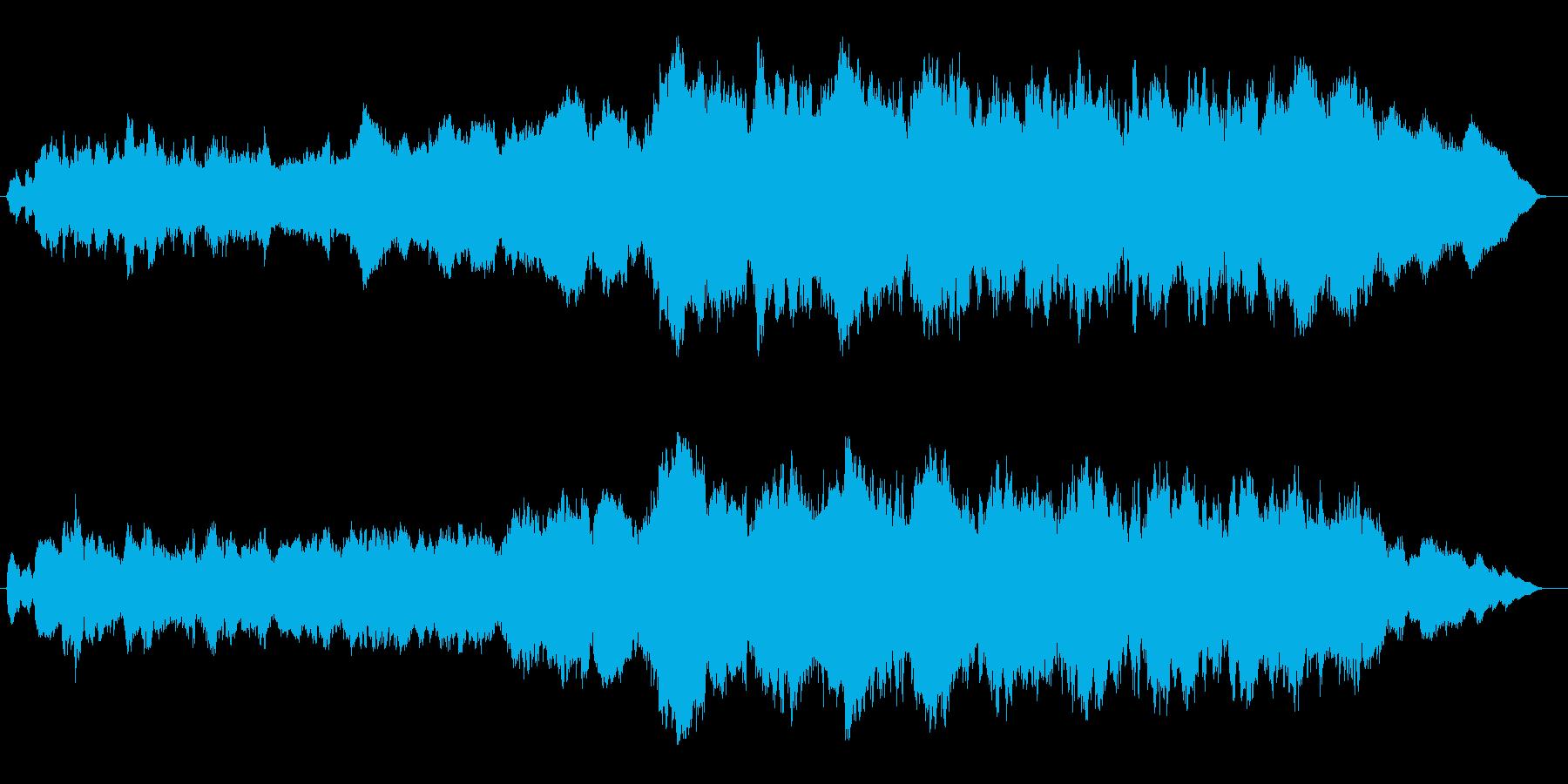 木管と弦の短いバラードの再生済みの波形