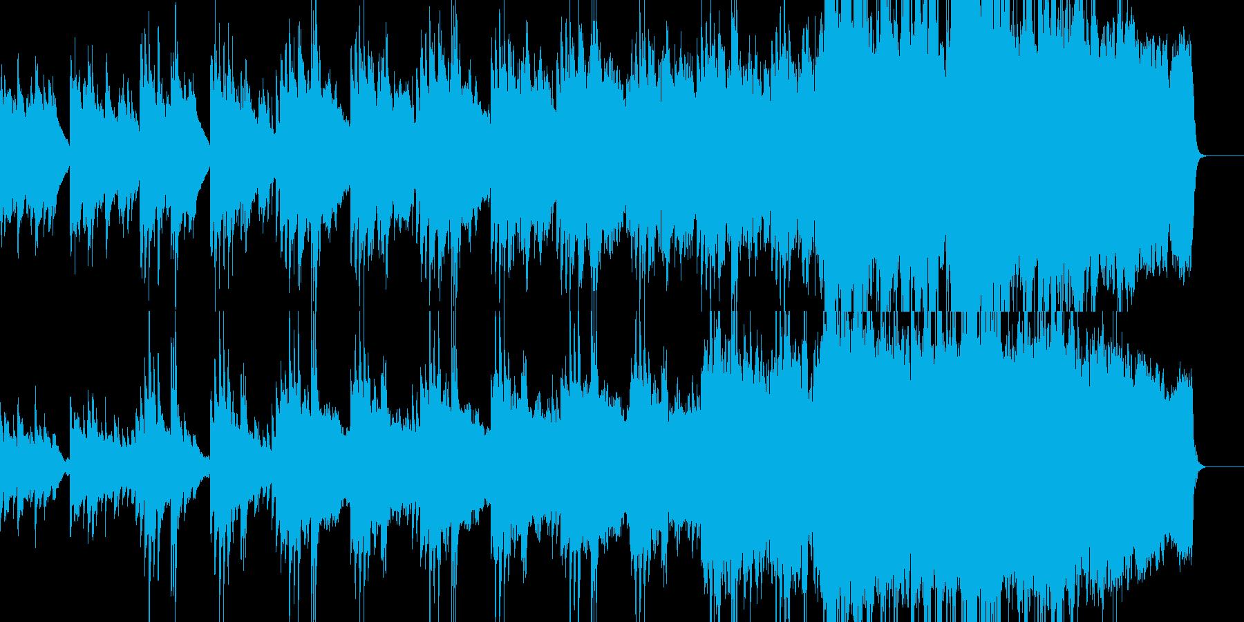 ピアノメインの壮大で感動的なオーケストラの再生済みの波形
