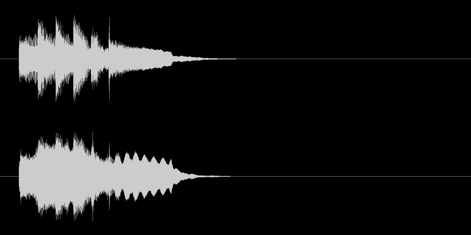 ジングル(軽やかアコースティック風)の未再生の波形