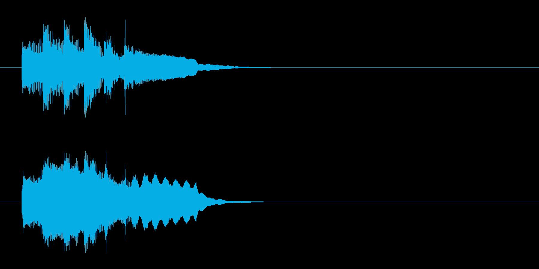ジングル(軽やかアコースティック風)の再生済みの波形