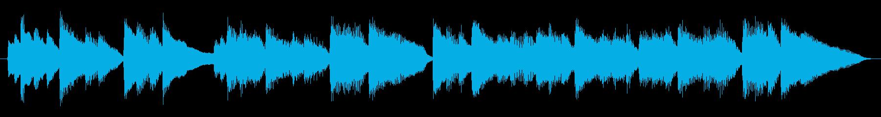 ピアノ、爽やかなショートジングルの再生済みの波形