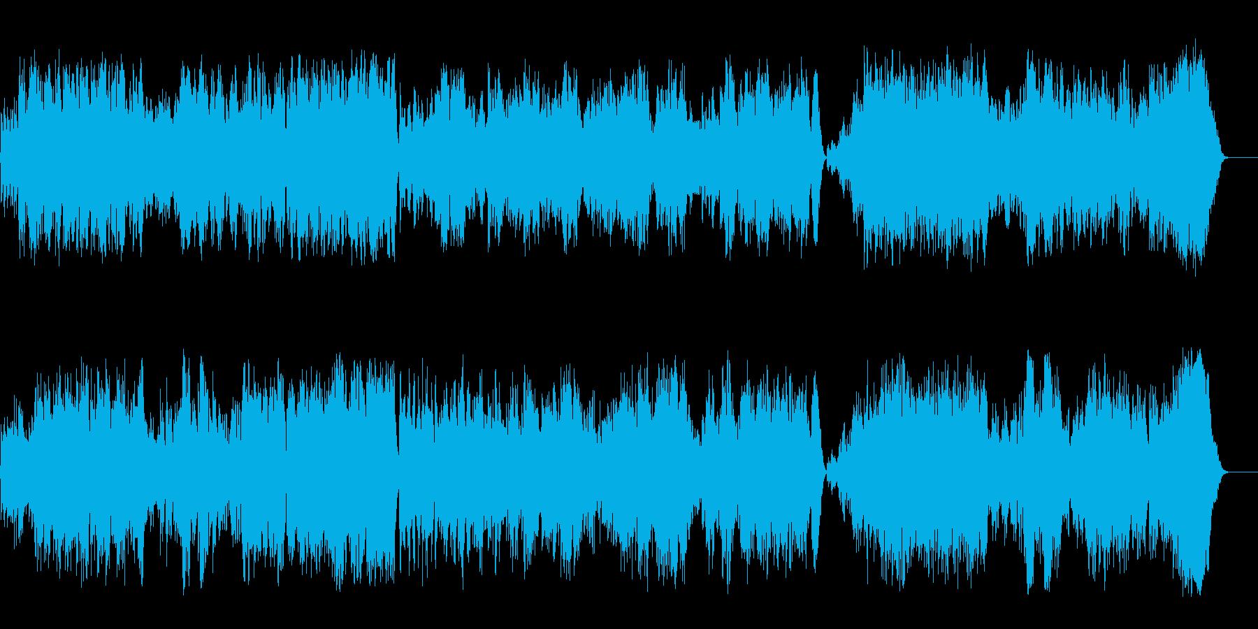 大自然の流麗で穏やかなフルート三重奏の再生済みの波形