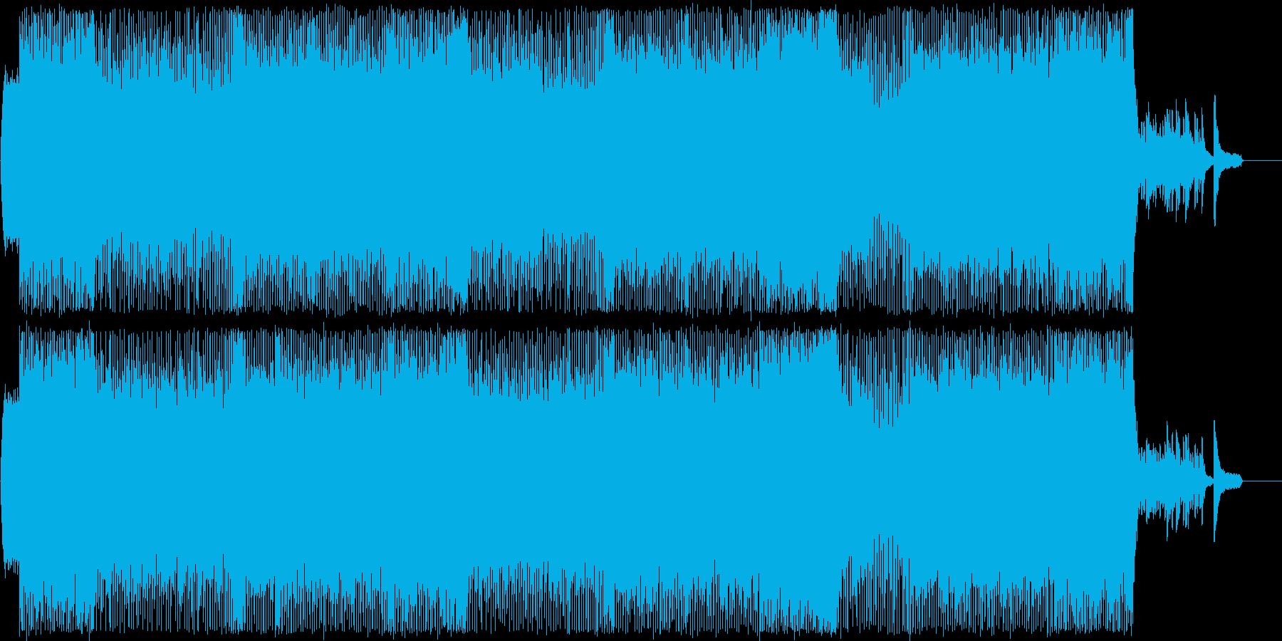 POP/EDM/Piano/ロックギターの再生済みの波形
