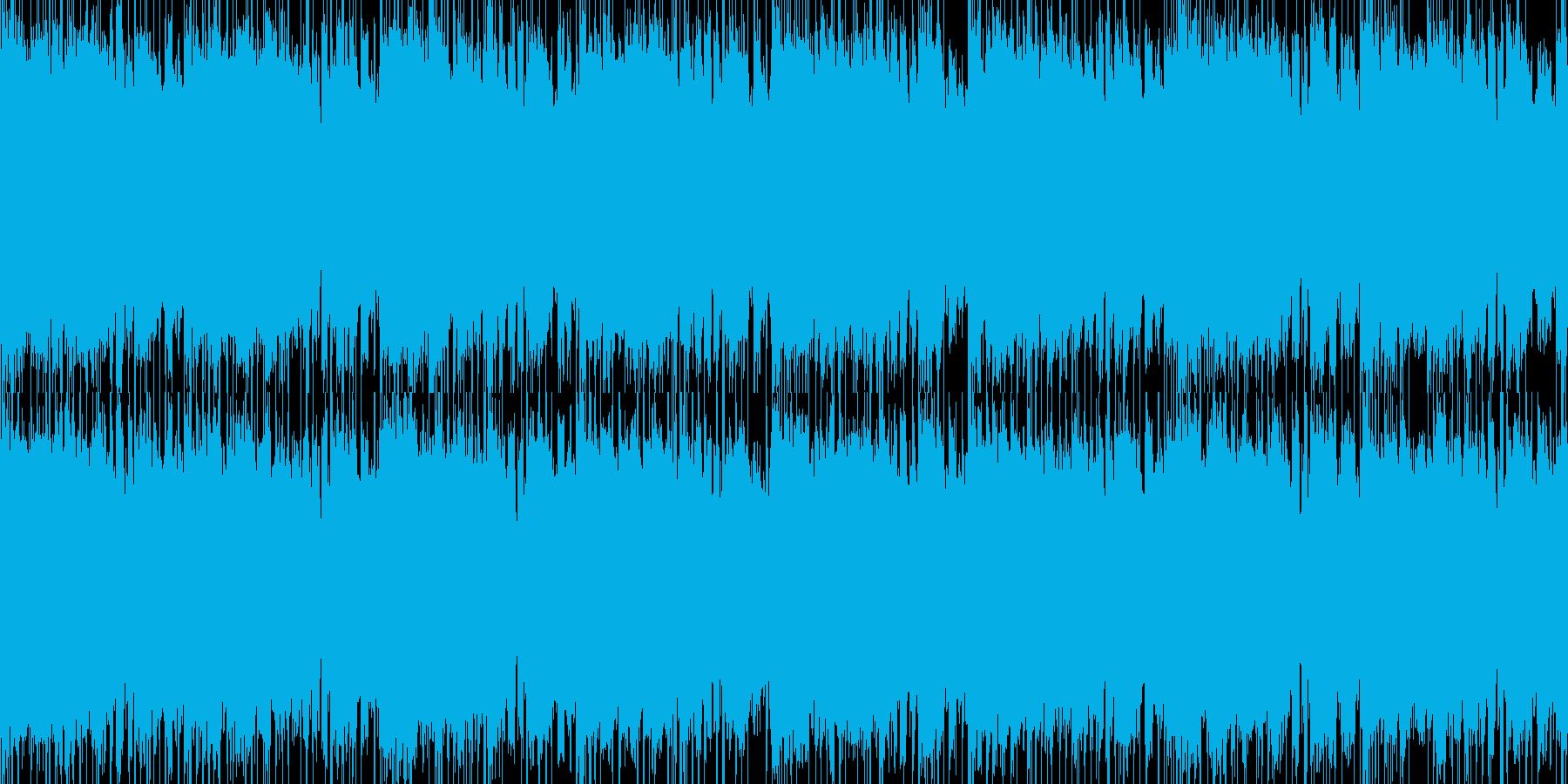 EDっぽい曲の再生済みの波形